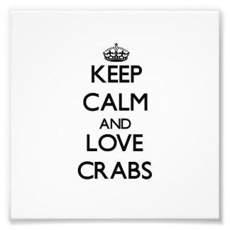 Mantenha a calma e ame caranguejos