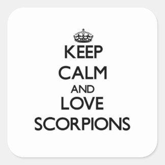 Mantenha a calma e ame escorpião