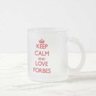 Mantenha a calma e ame Forbes Caneca