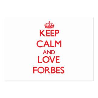 Mantenha a calma e ame Forbes Modelos Cartoes De Visitas