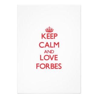 Mantenha a calma e ame Forbes Convites Personalizados