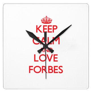 Mantenha a calma e ame Forbes Relógios Para Pendurar