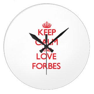 Mantenha a calma e ame Forbes Relógio Para Parede