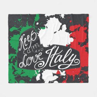 Mantenha a calma e ame Italia Cobertor De Velo