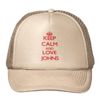 Mantenha a calma e ame Johns Boné