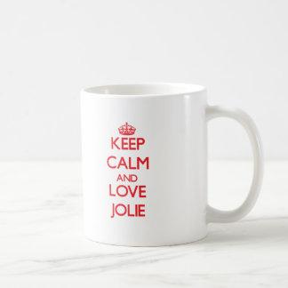 Mantenha a calma e ame Jolie Canecas