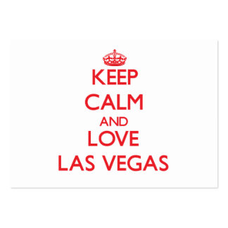 Mantenha a calma e ame Las Vegas Cartoes De Visita