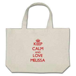 Mantenha a calma e ame Melissa Bolsa