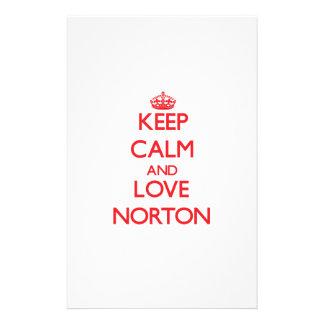 Mantenha a calma e ame Norton Papeis Personalizados