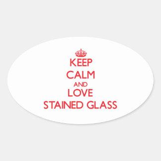 Mantenha a calma e ame o vitral adesivos