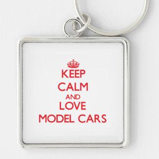Mantenha a calma e ame os carros modelo chaveiro