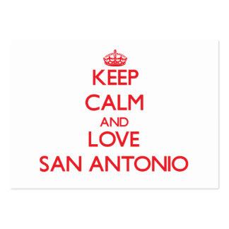 Mantenha a calma e ame San Antonio Modelos Cartões De Visita