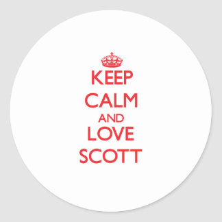 Mantenha a calma e ame Scott Adesivo