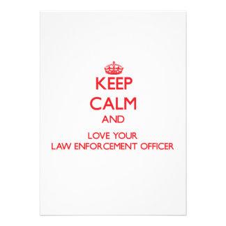 Mantenha a calma e ame seu agente da autoridade convite personalizado