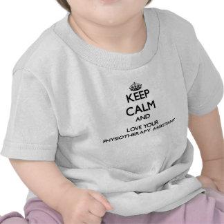 Mantenha a calma e ame seu assistente da t-shirts