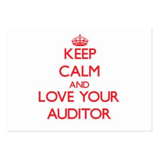 Mantenha a calma e ame seu auditor cartão de visita