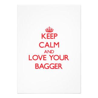 Mantenha a calma e ame seu Bagger Convite Personalizados