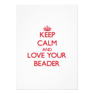 Mantenha a calma e ame seu Beader Convite Personalizado