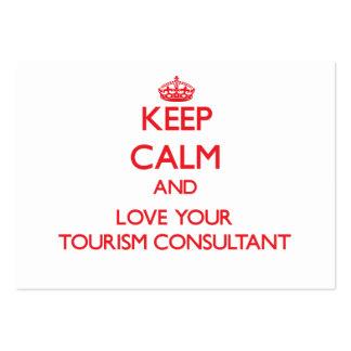 Mantenha a calma e ame seu consultante do turismo cartões de visita