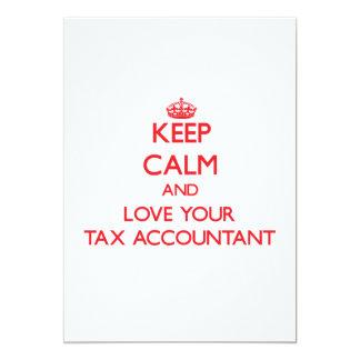Mantenha a calma e ame seu contador do imposto convites personalizados