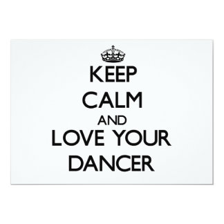 Mantenha a calma e ame seu dançarino convite 12.7 x 17.78cm