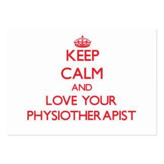 Mantenha a calma e ame seu fisioterapeuta