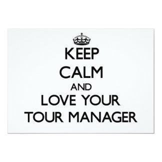 Mantenha a calma e ame seu gerente da excursão convite personalizado