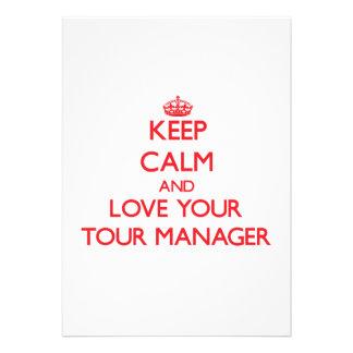 Mantenha a calma e ame seu gerente da excursão convites personalizado