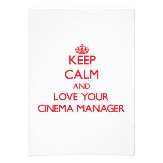 Mantenha a calma e ame seu gerente do cinema