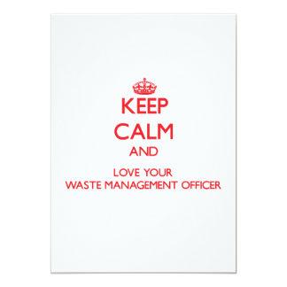 Mantenha a calma e ame seu oficial da gestão de convite 12.7 x 17.78cm