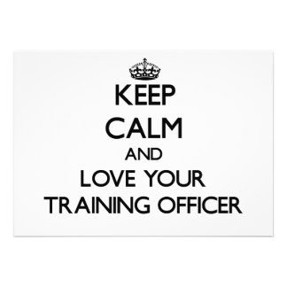 Mantenha a calma e ame seu oficial do treinamento convites