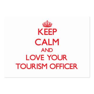 Mantenha a calma e ame seu oficial do turismo cartao de visita