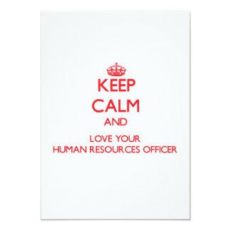 Mantenha a calma e ame seu oficial dos recursos convite 12.7 x 17.78cm
