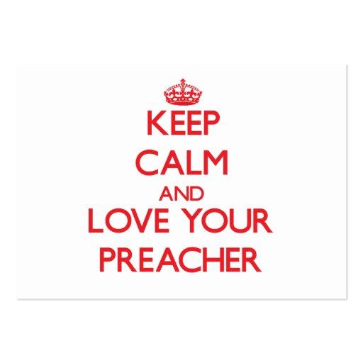 Mantenha a calma e ame seu pregador modelo cartões de visita
