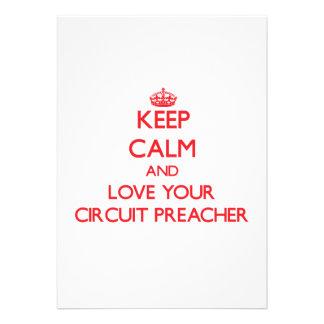 Mantenha a calma e ame seu pregador do circuito