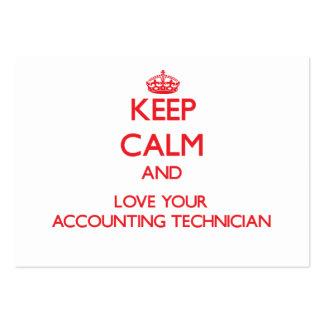 Mantenha a calma e ame seu técnico da contabilidad cartões de visitas