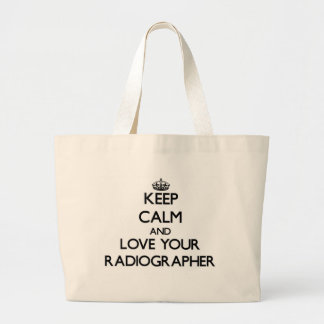 Mantenha a calma e ame seu técnico de radiologia bolsa para compras