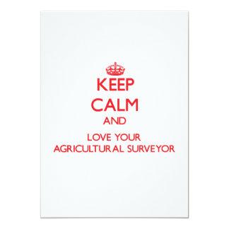 Mantenha a calma e ame seu topógrafo agrícola convites