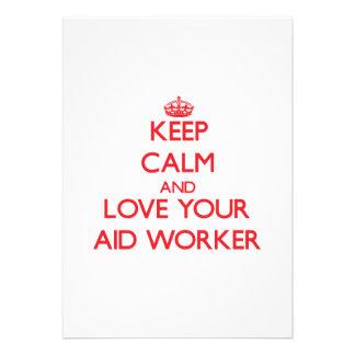 Mantenha a calma e ame seu trabalhador de auxílio