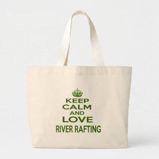 Mantenha a calma e ame transportar de rio bolsa