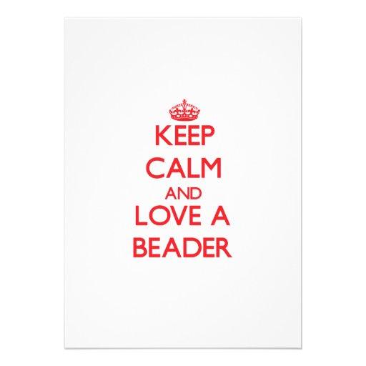 Mantenha a calma e ame um Beader Convite Personalizados