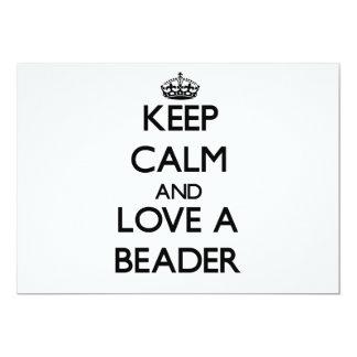 Mantenha a calma e ame um Beader Convites Personalizado