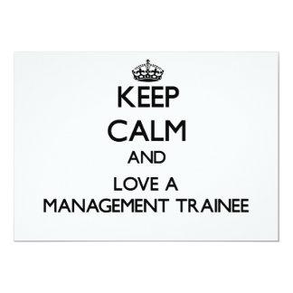 Mantenha a calma e ame um estagiário da gestão convite personalizados
