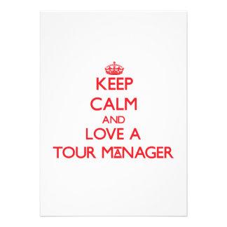 Mantenha a calma e ame um gerente da excursão convite