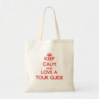 Mantenha a calma e ame um guia turística sacola tote budget