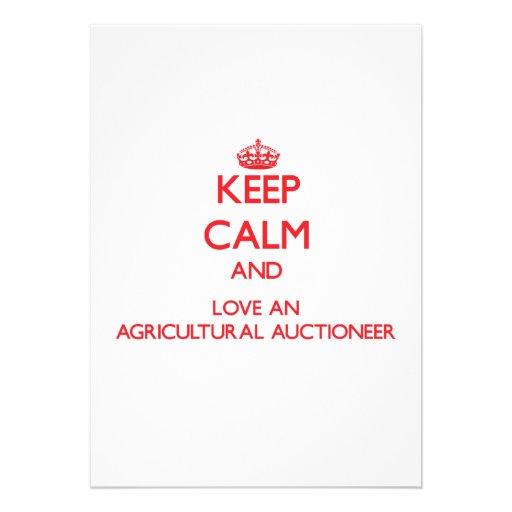 Mantenha a calma e ame um leiloeiro agrícola convite personalizados