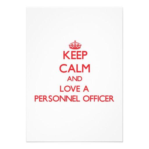 Mantenha a calma e ame um oficial de pessoais convite personalizado