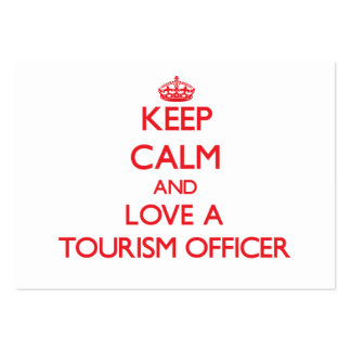 Mantenha a calma e ame um oficial do turismo cartões de visitas