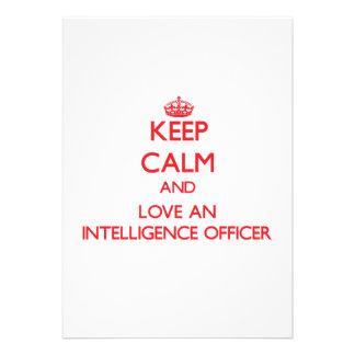 Mantenha a calma e ame um oficial dos serviços sec convites personalizado