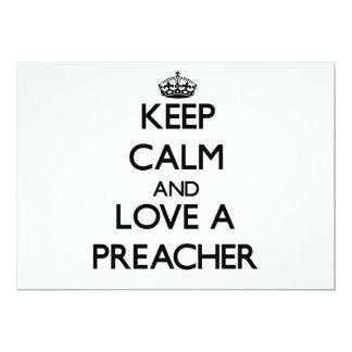 Mantenha a calma e ame um pregador convite